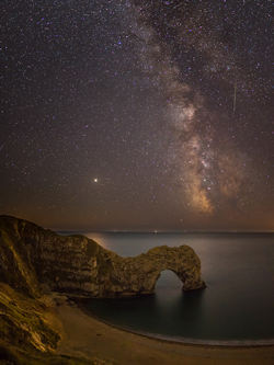 Milky Way Mars and Saturn over Durdle Door